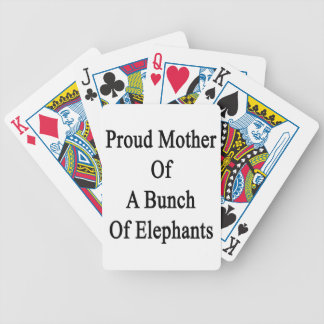 Proud Mother Of A Bunch Of Elephants Bicycle Playing Cards