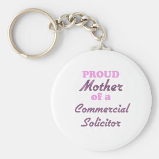 Proud Mother of a Commercial Solicitor Basic Round Button Keychain