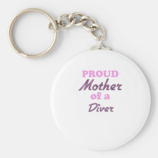 Proud Mother of a Diver Keychain