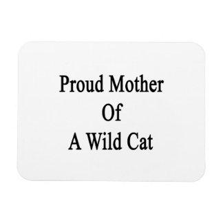 Proud Mother Of A Wild Cat Rectangular Photo Magnet