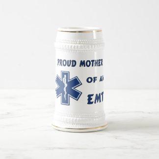 Proud Mother Of An EMT 18 Oz Beer Stein