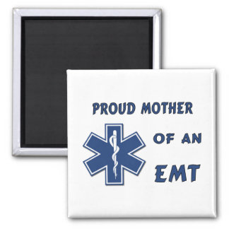 Proud Mother Of An EMT 2 Inch Square Magnet