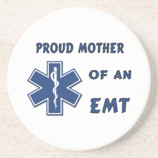 Proud Mother Of An EMT Beverage Coasters