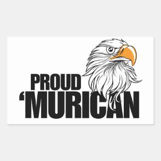 Proud MURICAN Rectangular Sticker