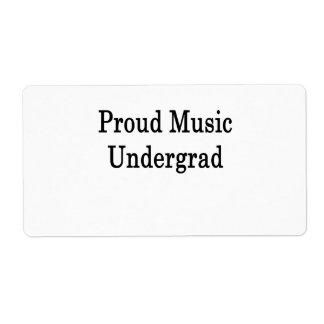 Proud Music Undergrad Labels