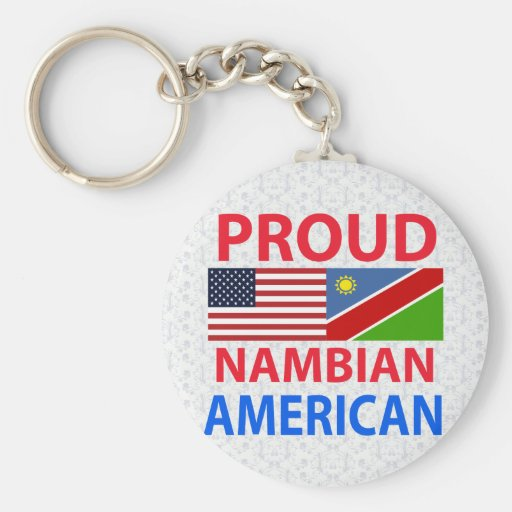 Proud Nambian American Keychains