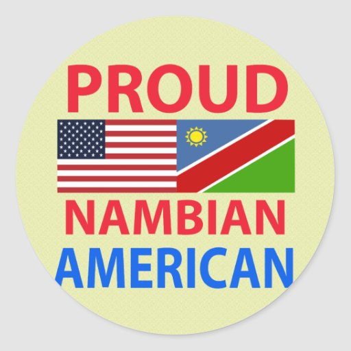 Proud Nambian American Stickers