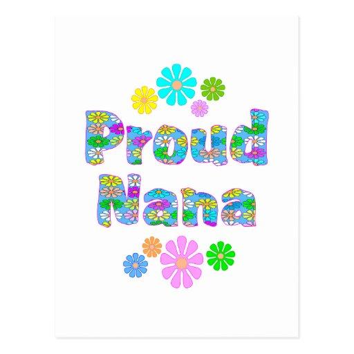 Proud Nana Postcard