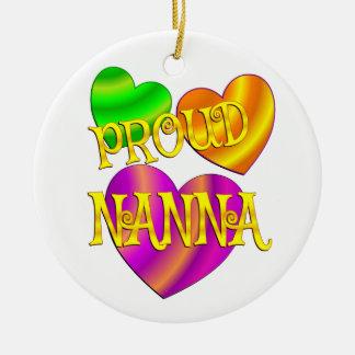 Proud Nanna Ceramic Ornament