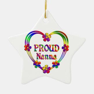 Proud Nanna Heart Ceramic Ornament