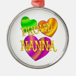 Proud Nanna Metal Ornament