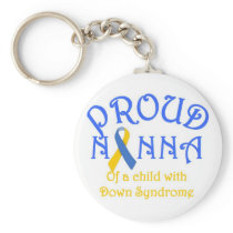 Proud Nanna of a Down Syndrome Child Keychain