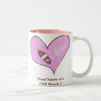 Proud Nannie of a CHD Miracle !! Two-Tone Coffee Mug