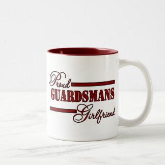 Proud National Guard Girlfriend (Red N Black) Coffee Mugs