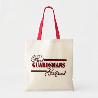 Proud National Guard Girlfriend (Red N Black) Tote Bag