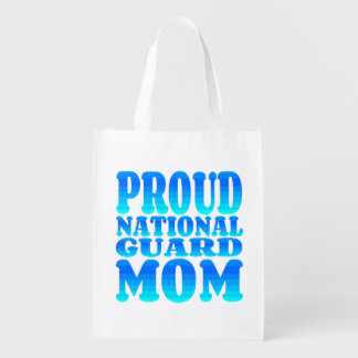 Proud National Guard Mom Reusable Grocery Bags