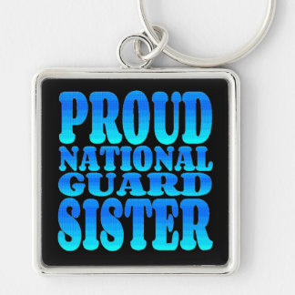 Proud National Guard Sister Keychain