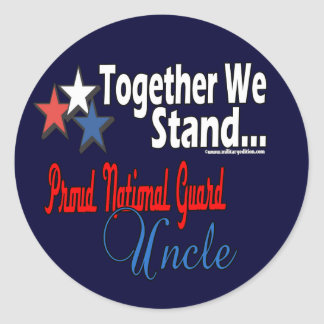 Proud National Guard Uncle Classic Round Sticker