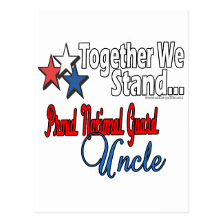 Proud National Guard Uncle Postcard