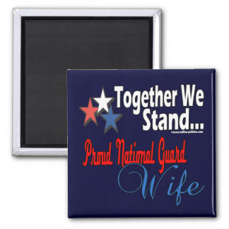 Proud national Guard Wife 2 Inch Square Magnet