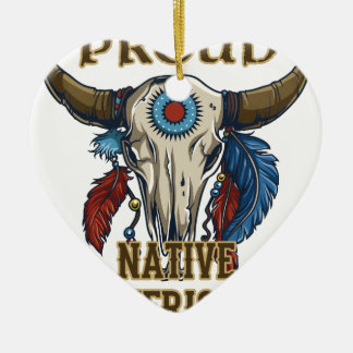 Proud Native American Ceramic Ornament
