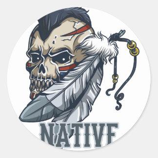 Proud Native American Classic Round Sticker