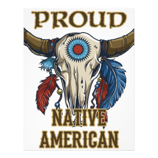 Proud Native American Letterhead Design