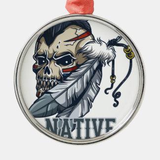 Proud Native American Metal Ornament