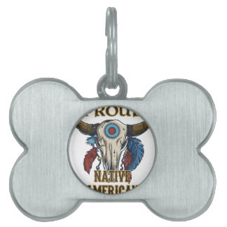 Proud Native American Pet ID Tags