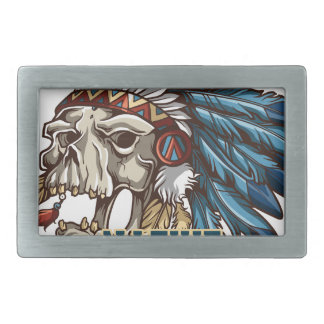 Proud Native American Rectangular Belt Buckle