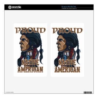 Proud Native American Kindle Fire Skin