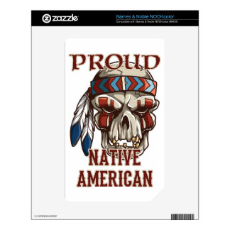 Proud Native American Decal For NOOK Color