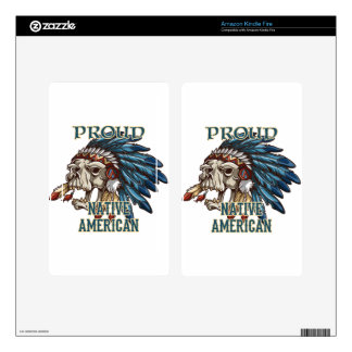 Proud Native American Kindle Fire Skins