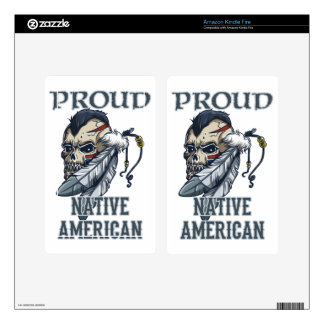 Proud Native American Decals For Kindle Fire