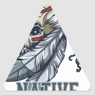 Proud Native American Triangle Sticker