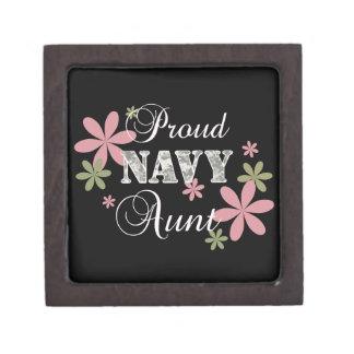 Proud Navy Aunt [fl c] Jewelry Box