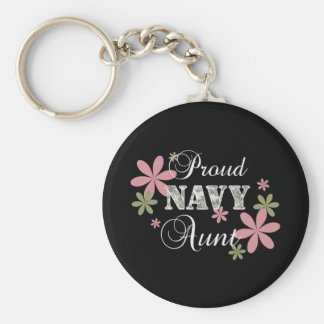 Proud Navy Aunt [fl c] Keychain
