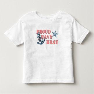 Proud Navy Brat anchor Toddler T-shirt