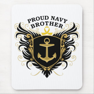 Proud Navy Brother Mouse Pad