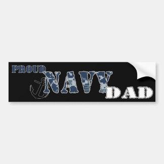 Proud Navy Dad Bumper Sticker Car Bumper Sticker