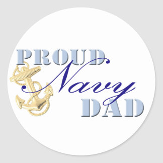 Proud Navy Dad Stickers