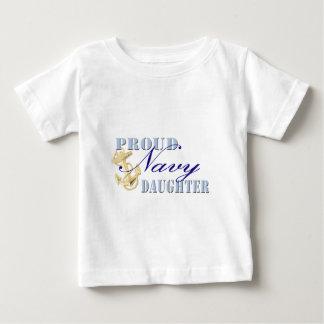 Proud Navy Daughter Baby T-Shirt