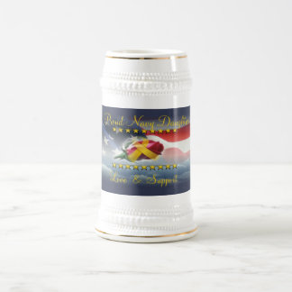 Proud Navy Daughter Beer Stein