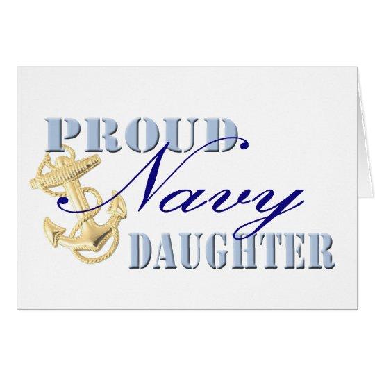 Proud Navy Daughter Card