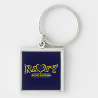 Proud Navy Girlfriend Keychain