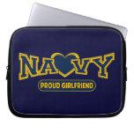 Proud Navy Girlfriend Laptop Sleeves