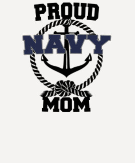 Proud Navy Mom Anchor Shirt