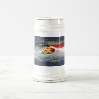 Proud Navy Mom Beer Stein