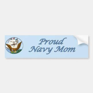 Proud Navy Mom-Bumper Sticker