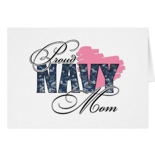 Proud Navy Mom Card